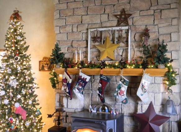 Rustic Christmas Mantel My Modern Country